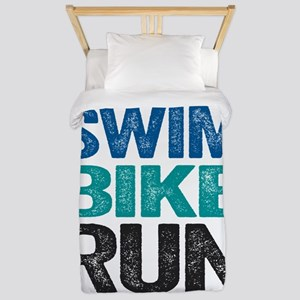 Triathlon. Swim. Bike. Run. Twin Duvet