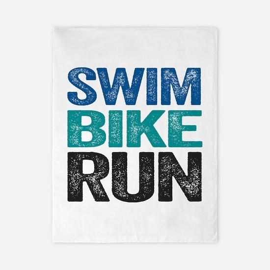 Triathlon. Swim. Bike. Run. Twin Duvet