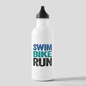 Triathlon. Swim. Bike. Run. Water Bottle