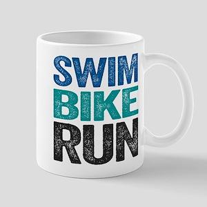 Triathlon. Swim. Bike. Run. Mugs