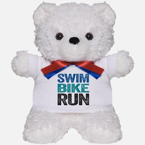 Triathlon. Swim. Bike. Run. Teddy Bear