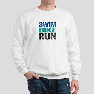 Triathlon. Swim. Bike. Run. Sweatshirt