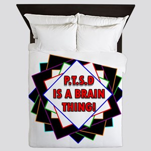 P.t.s.d. By Candidog Queen Duvet