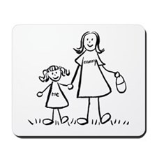 Mother and Daughter Drawing Mousepad