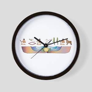 CAO Hieroglyphs Wall Clock