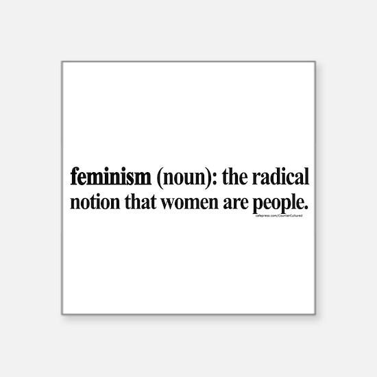 FEMINISMDEFINED1white Sticker