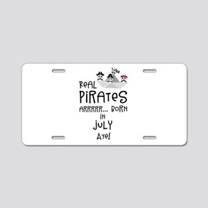 Real Pirates are born in JU Aluminum License Plate