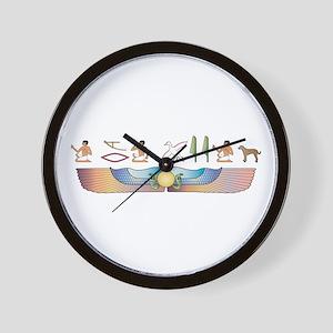 Catahoula Hieroglyphs Wall Clock