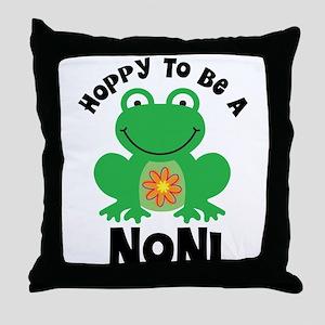 Hoppy to be Noni Throw Pillow