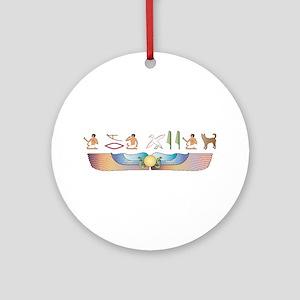 Canaan Hieroglyphs Ornament (Round)