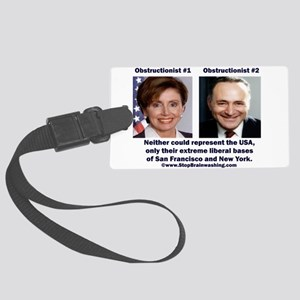 liberals - today's brown Large Luggage Tag