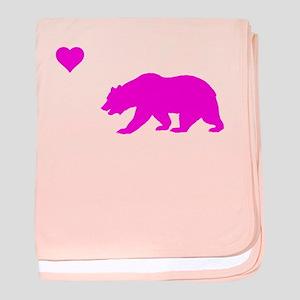 neon pink california love baby blanket