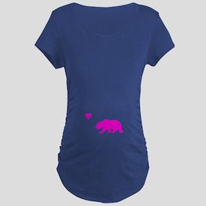 neon pink california love Maternity Dark T-Shirt
