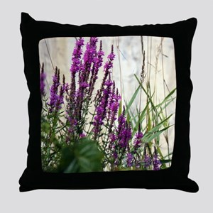 Wildflowers In Newport Vermont Throw Pillow