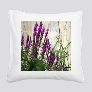 Wildflowers In Newport Vermont Square Canvas Pillo