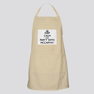 Keep calm and Party with Mccarthy Apron
