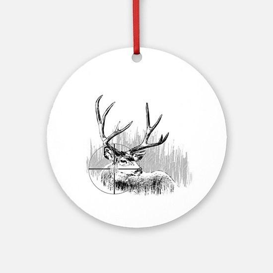 Deer Hunter Ornament (Round)