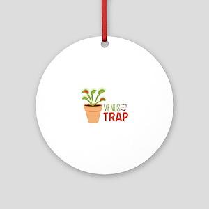 VENUS FLY TRAP Ornament (Round)