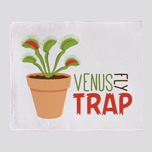 VENUS FLY TRAP Throw Blanket