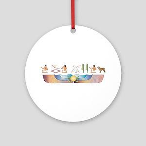 BRT Hieroglyphs Ornament (Round)