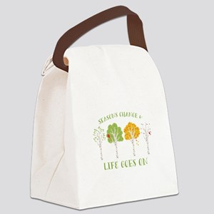 Seasons change & life goes on Canvas Lunch Bag