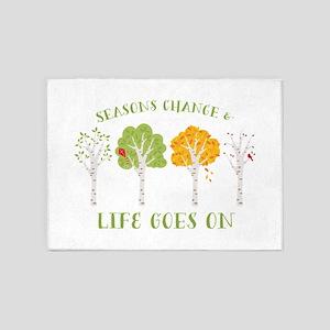 Seasons change & life goes on 5'x7'Area Rug