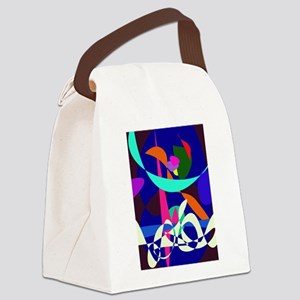 White Waves Canvas Lunch Bag
