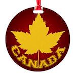 Canada Souvenir Varsity Round Ornament