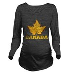 Canada Souvenir Vars Long Sleeve Maternity T-Shirt