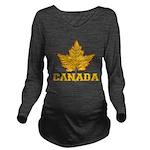 Canada Souvenir Vars Long Sleeve Maternity T-Shirt