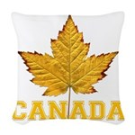 Canada Souvenir Varsity Woven Throw Pillow