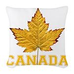 Canada Souvenir Varsity Woven Throw Pillow