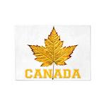 Canada Souvenir Varsity 5'x7'Area Rug