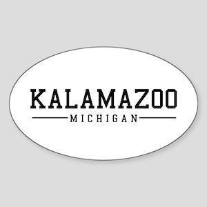Kalamazoo, Michigan Oval Sticker