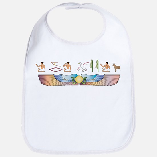 Cattle Dog Hieroglyphs Bib