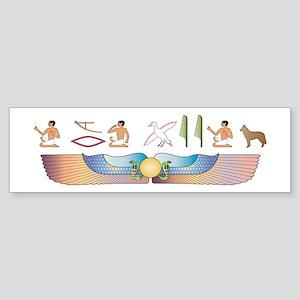 Cattle Dog Hieroglyphs Bumper Sticker