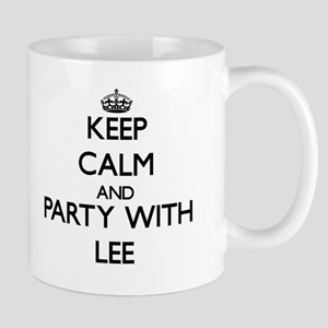 Keep calm and Party with Lee Mugs