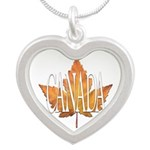Canada Souvenir Silver Heart Necklace Necklaces