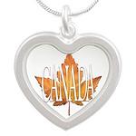 Canada Souvenir Silver Heart Necklace Necklaces