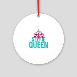 Selfie Queen Ornament (Round)