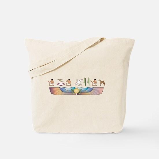 Airedale Hieroglyphs Tote Bag