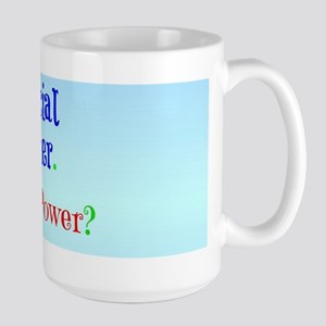 Social Worker with Super Power Large Mug
