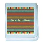 Elegant Polka Dots and Stripes Custom baby blanket