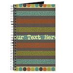 Elegant Polka Dots and Stripes Custom Journal