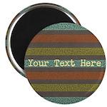 Elegant Polka Dots and Stripes Custom Magnets