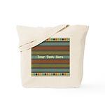 Elegant Polka Dots and Stripes Custom Tote Bag