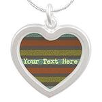 Elegant Polka Dots and Stripes Custom Necklaces