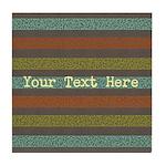 Elegant Polka Dots and Stripes Custom Tile Coaster