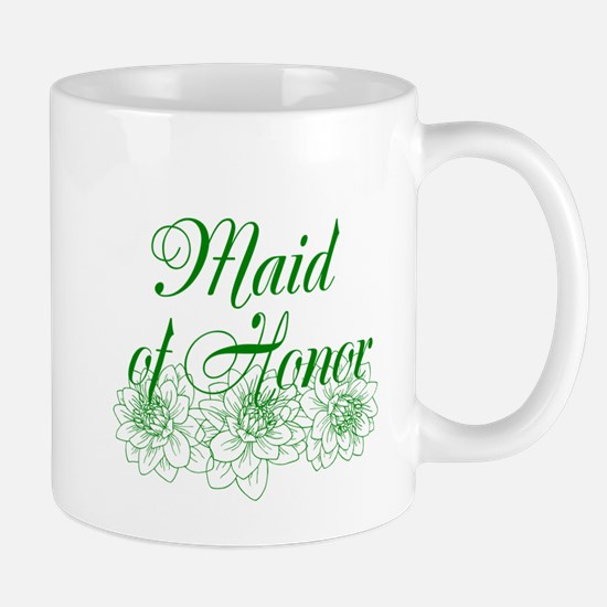 Green Maid of Honor Mugs