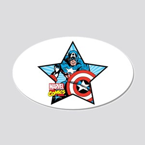 Captain America Star 20x12 Oval Wall Decal